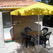 La terrasse devant le studio